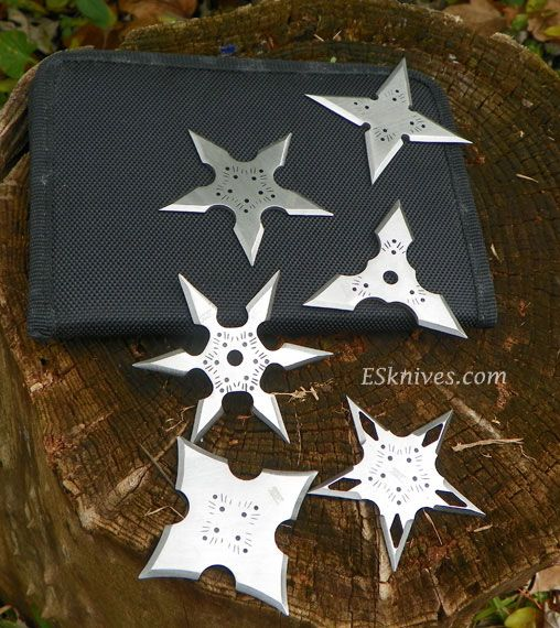 Assassins Creed Hira Shuriken Set | Hardened from flat stainless steel these throwing stars | Awesome bad ass gift idea | Sharp knife |