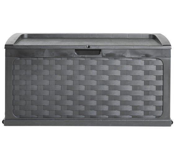 Buy Black Rattan Effect Storage Chest at Argos.co.uk, visit Argos.co.uk to shop online for Garden storage boxes and cupboards, Conservatories, sheds and greenhouses, Home and garden