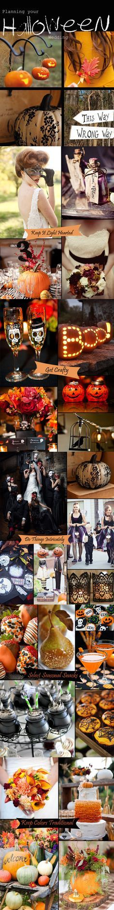 Classy Halloween Inspired Wedding Ideas And Bridesmaid Dresses Part 50