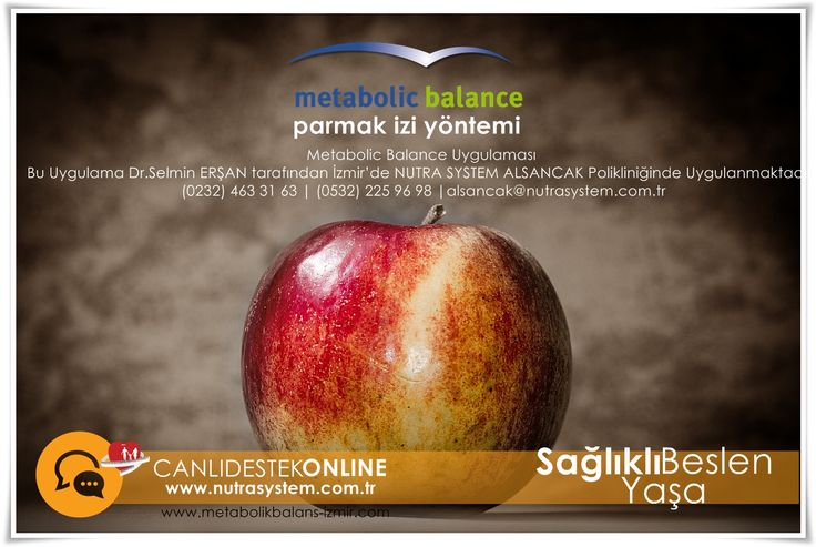 Metabolic Balance | Kişiye Özel Beslenme    Bu Uygulama Dr.Selmin ERŞAN tarafından İzmir'de NUTRA SYSTEM ALSANCAK Polikliniğinde Uygulanmaktadır.  Randevu ve Sorularınız İçin…  (0232) 463 31 63 | (0532) 225 96 98 |alsancak@nutrasystem.com.tr