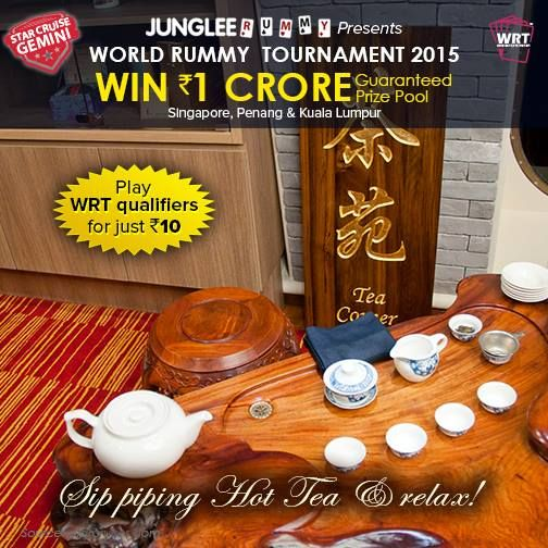 Care for a cup of tea? Sip piping hot tea and relax onboard StarCruise Gemini. Play qualifiers NOW for just Rs.10!  #win1crore #wrt2015 #worldrummy #jungleerummy