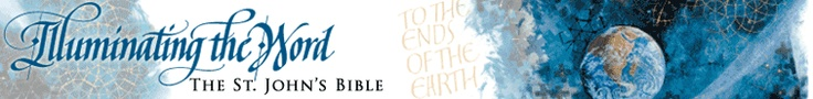 Online Exhibition  The St. John's Bible    This exhibition is devoted to a single work of art, an illuminated, handwritten Bible commissioned by Saint John's University and Abbey in Minnesota. This contemporary Bible is at once old and new: a masterpiece of the ancient crafts of calligraphy and illumination that could only be made by artists of today...  http://www.loc.gov/exhibits/stjohnsbible/stjohns-exhibit.html