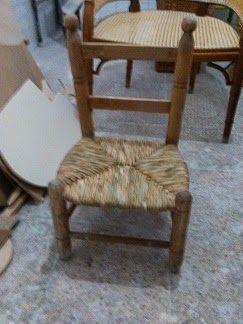 Nico, el artesano de mimbre, anea, rejilla, cuerda y caña:  Restauración del asiento de anea de una silla de ...