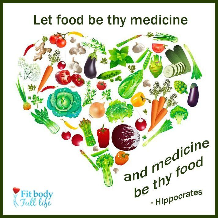 Free Printable Let Food Be Thy Medicine Word Art