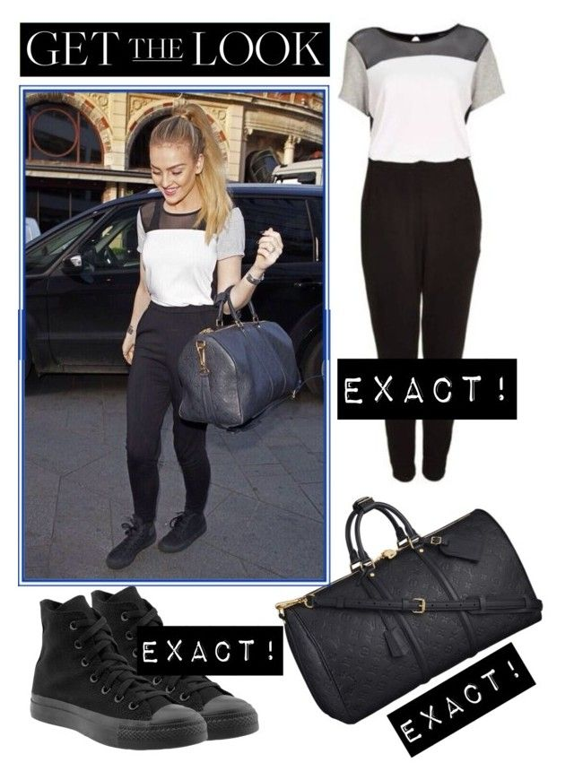 """Get The Look - Perrie Edwards at Capital FM (May 9, 2014)"" by randomoutfitsandstyle ❤ liked on Polyvore featuring Topshop, Converse, Louis Vuitton, GetTheLook, littlemix, perrie, perrieedwards and Pezza"