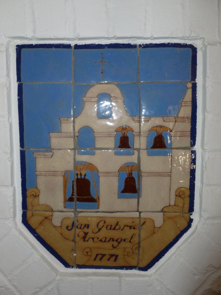 Beautifil tile work at the Santa Cruz Inn, formerly the Casa do Anza Hotel, in Riverside CA.