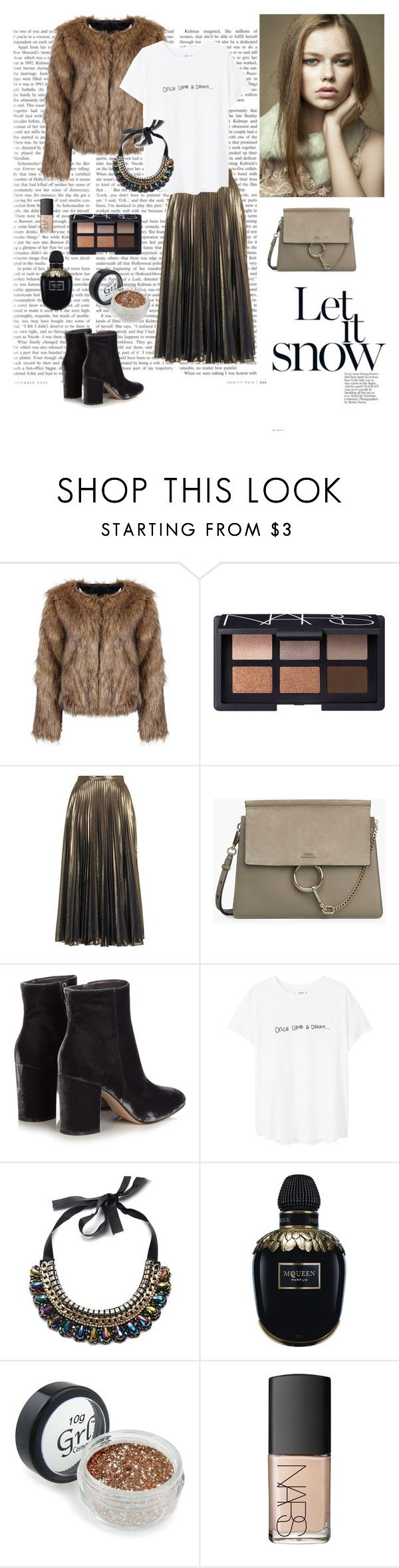 """Xmas vol.3"" by dorey on Polyvore featuring NARS Cosmetics, Topshop, Gianvito Rossi, MANGO, Pretty Green and Alexander McQueen"