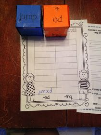 First Grade and Flip Flops: Inflectional endings-- A quick center for you!