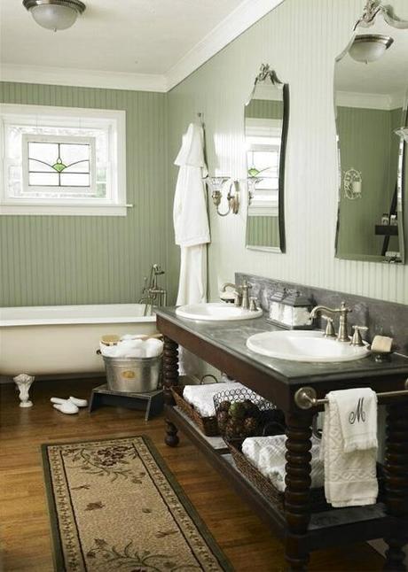 Ordinaire バスルーム インテリア実例 アンティーク カントリー シャビーシック Bathroom