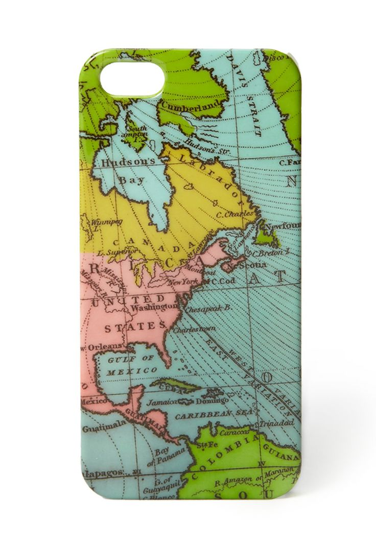 Around The World Cell Phone Case | FOREVER21 For the world traveler #Accessories #PhoneCase #Map