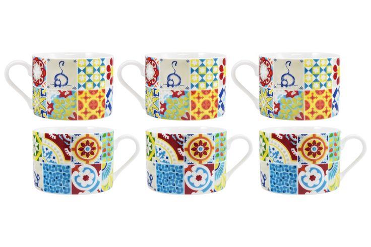 6 chávenas de chá 50s Remix | A Loja do Gato Preto | #alojadogatopreto | #shoponline