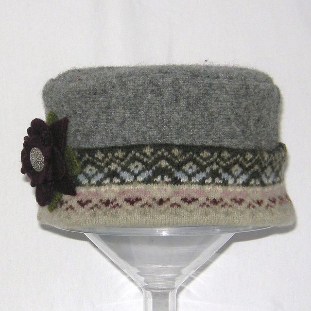 Darling hat from recycled sweater