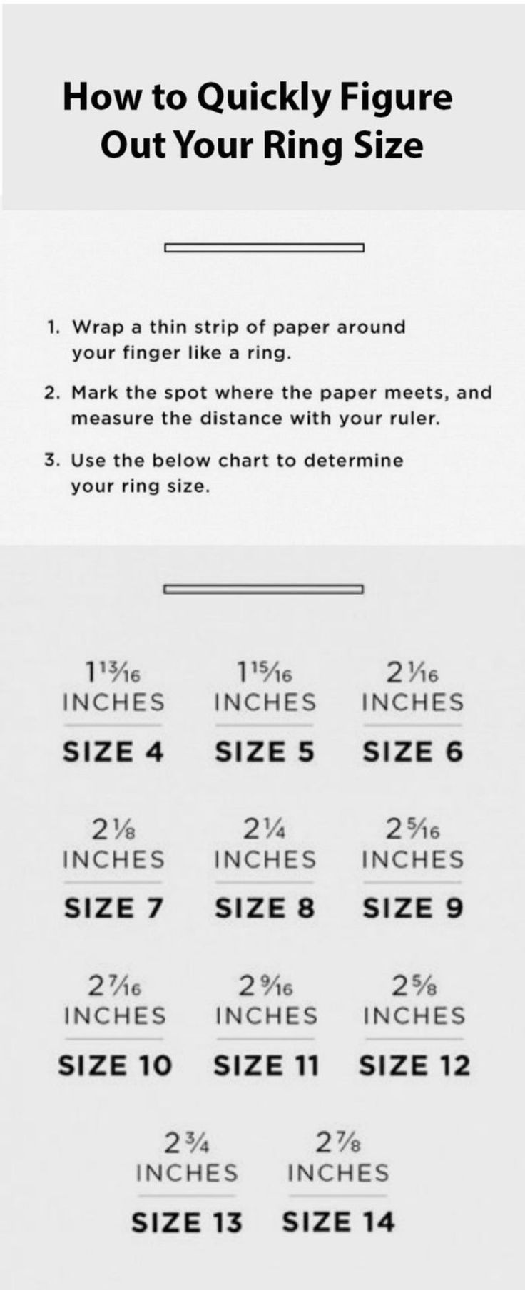 Quickly determine your ring size Etsy in 2020 Useful