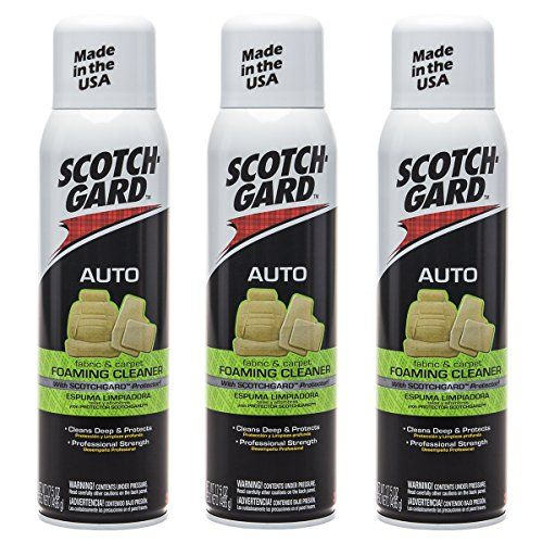 Scotchgard 3 Pack 3M Auto Fabric Carpet Foam 17.5oz Cleaner Car Upholstery Interior. For product info go to:  https://www.caraccessoriesonlinemarket.com/scotchgard-3-pack-3m-auto-fabric-carpet-foam-17-5oz-cleaner-car-upholstery-interior/