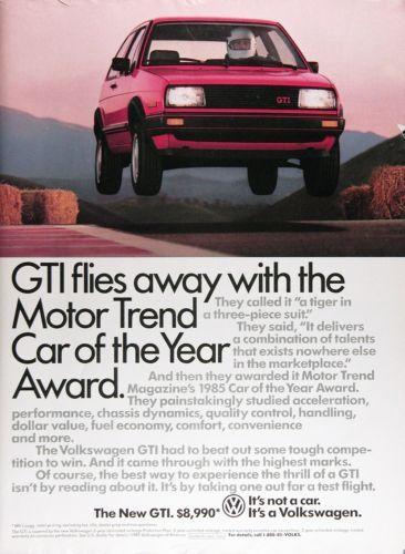 1985-VW-VOLKSWAGEN-GTI-Genuine-Vintage-Advertisement-MSRP-8-990