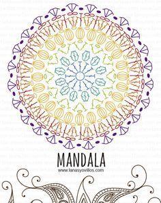 mandala free crochet pattern with video tutorial, español e inglés. Más