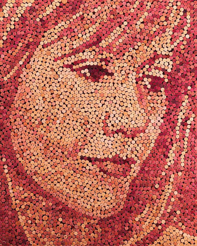 To your health. Wine Cork Portraits by Scott Gundersen