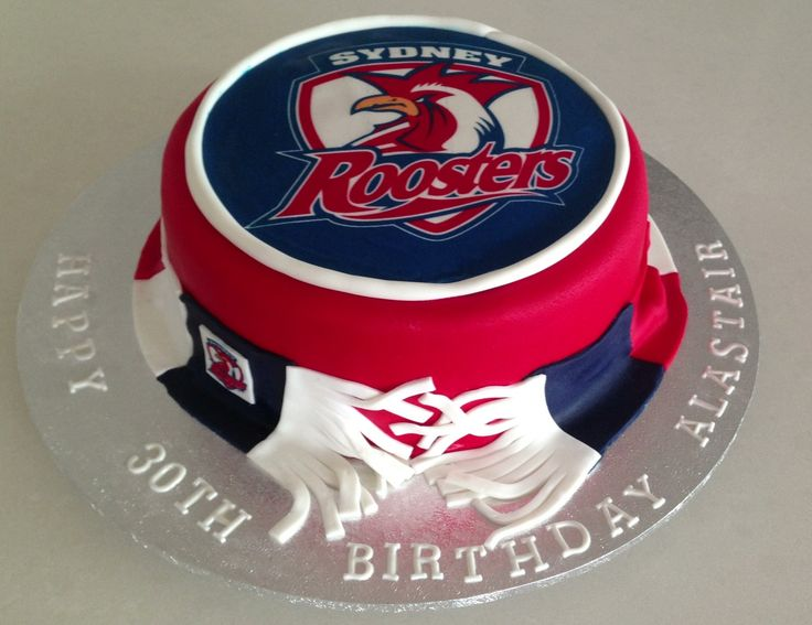 Nrl Sydney Roosters cake made By Just Cookies