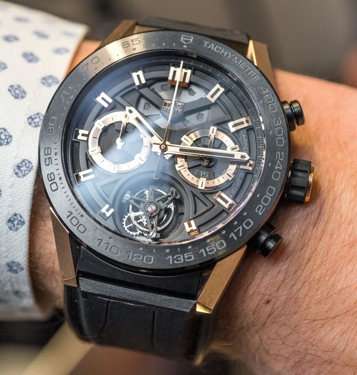 "TAGHeuer Carrera Heuer-02T $15,000 Tourbillon Chronograph Watch Hands-On -by David Bredan- see the full details on aBlogtoWatch.com ""The time has come: the least expensive tourbillon watch yet from a major Swiss brand is officially here. Naturally, we were eager to go hands-on with it at TAG Heuer's massive Baselworld 2016 booth. This is the TAG Heuer Carrera Heuer-02T, a watch that is actually as powerful and surprising in the metal as it was when originally announced one full year…"