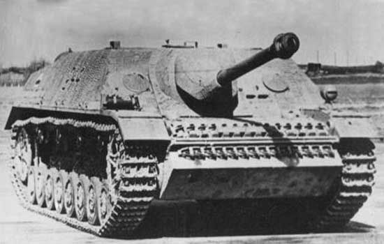 German Jagdpanzer IV tank. This was a late war German tank destroyer based on the Panzer IV chassis. It had 60 mm armour and a long barrel 75 mm gun similar to that found on the German Panther.