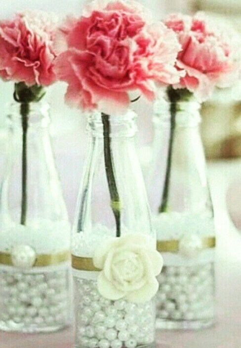 Beads/pearls in jars