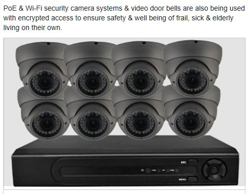 PoE security camera systems for those that want to have a permanent system setup.
