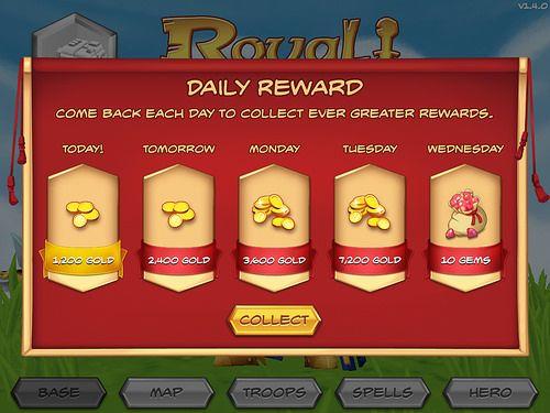 Daily reward game design free to play ui ux
