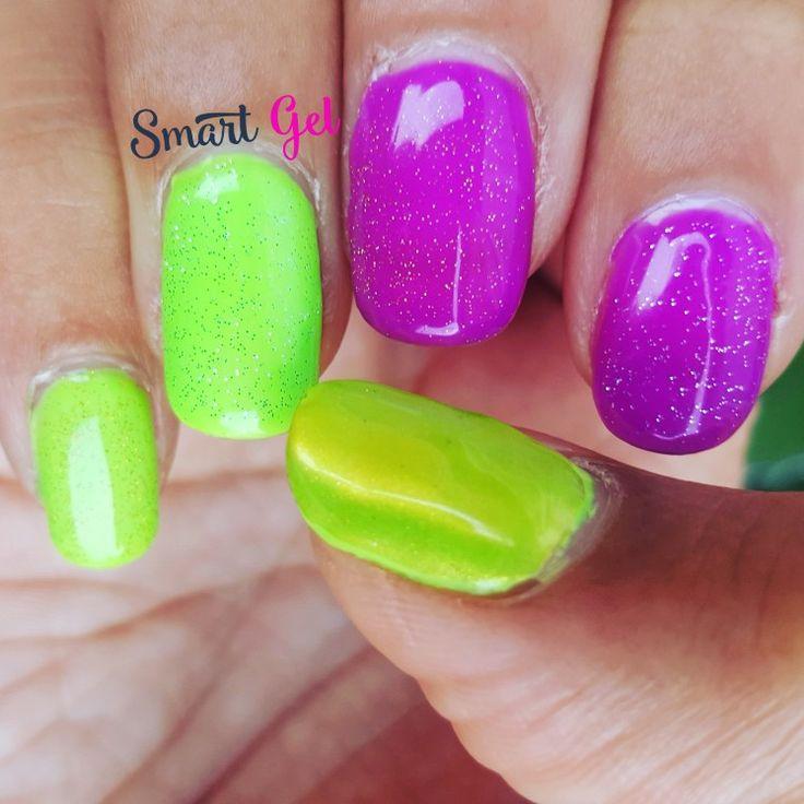 Neon manicure with glitter.  💅 #nails #nail #fashion #nailart #nailpolish #polish #nailswag #beauty #beautiful #pretty #girl #girls #stylish #sparkles #styles #glitter #art #photooftheday #love #style #shiny #cute #manicure #stampingnailart #smartgel #neon