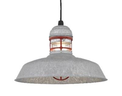 """16"""" Outback, 96-Galvanized, 97-Red Guard, Clear Glass, Black Cord Hung"""