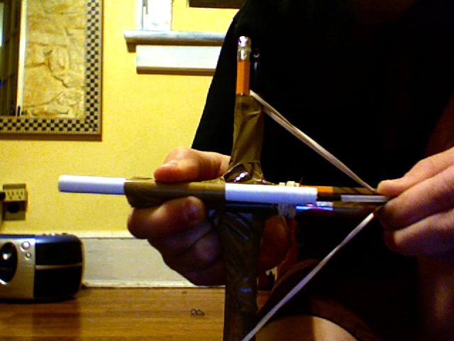 How to Make a Small Crossbow out of Household Items in 11 Steps