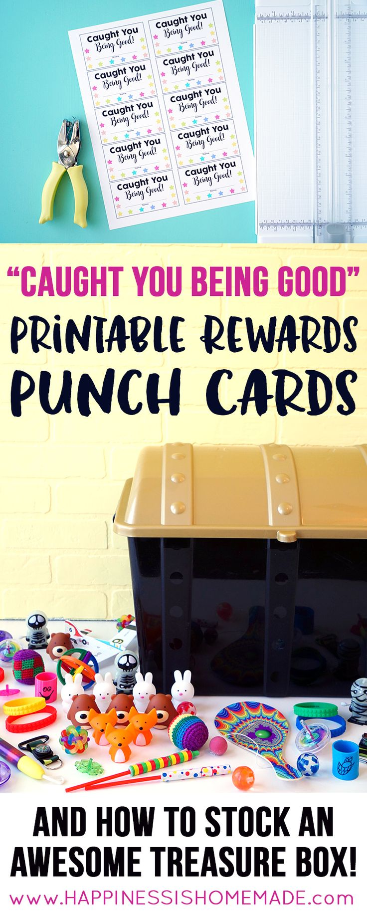 "These printable ""Caught You Being Good"" punch cards are a great way to encourage…"