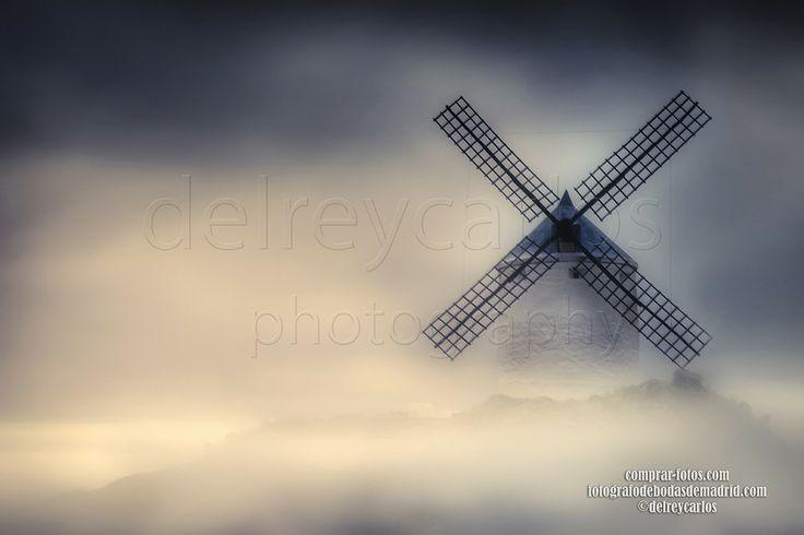 Windmill in fog El molino jpg en la niebla by Carlos Ramírez de Arellano del Rey on 500px
