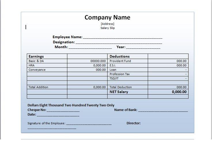 How Salary Slip Template Can Make Your Life Easy? http://exceltmp.com/how-salary-slip-template-can-make-your-life-easy/