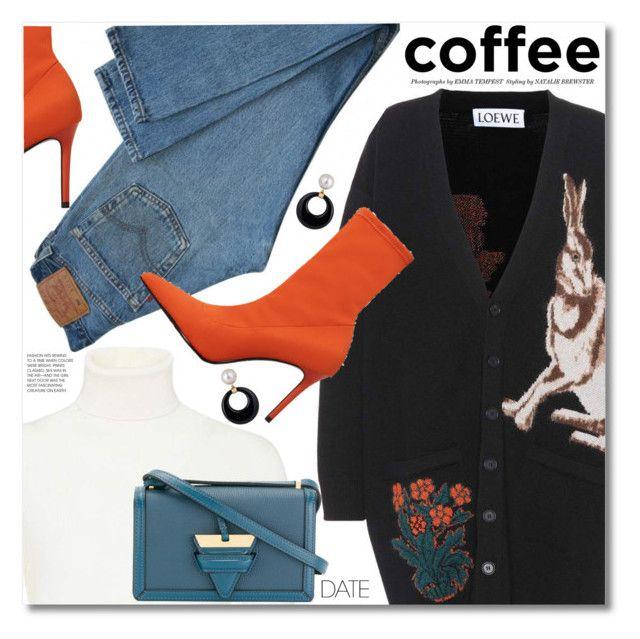 """Buzz-Worthy: Coffee Date"" by svijetlana ❤ liked on Polyvore featuring Loewe, Agnona, Levi's, MANGO and CoffeeDate"