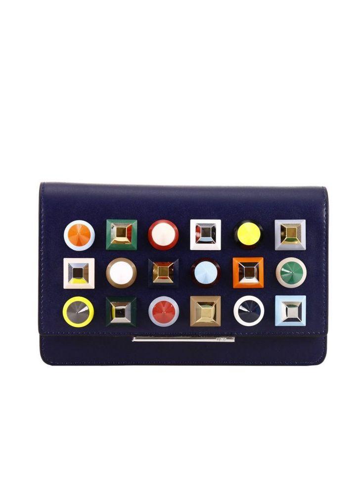FENDI Clutch Shoulder Bag Women Fendi. #fendi #bags #leather #clutch #hand bags #