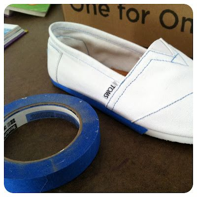 tutorial for custom painted Toms @Oh Susanna...you are the talented artsy one. I need you to paint me some TOMS!