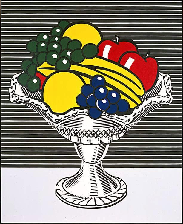 Roy Lichtenstein 1973 - STILL LIFE WITH CRYSTAL BOWL - Oil and magna on canvas (132 x 107 cm). #USA #PopArt @deFharo