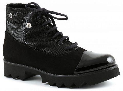 Ботинки женские Tuffoni, цвет: Черный, нат. кожа/замша, зима - купить в Москве в интернет-магазине (1272B)