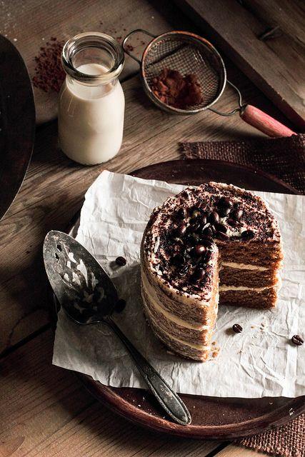 White Chocolate Espresso Cake / Pastry Affair.