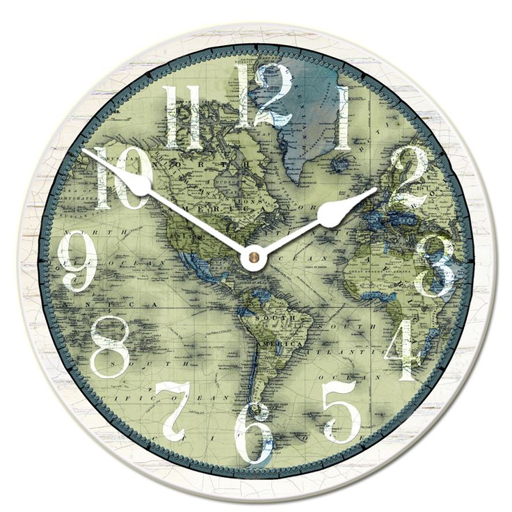 verde map clock choose a size large wall clocks