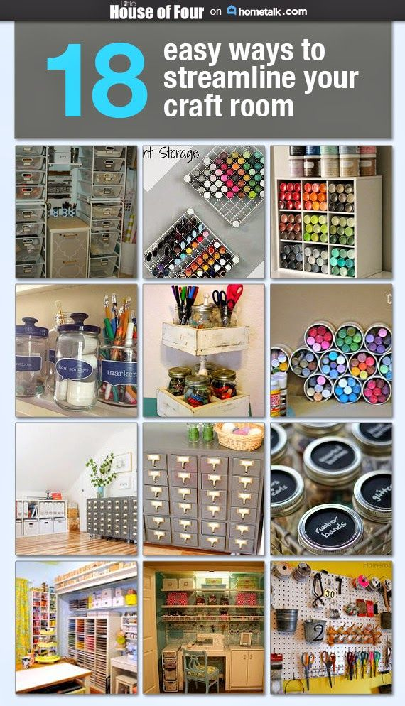 18 AMAZING Ways to Streamline Your Craft Room! -LITTLE HOUSE OF FOUR.