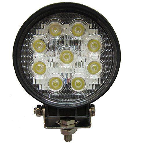 6 x 4.5 inch 2565LM rond phare de travail LED 27W lampe voiture pour SUV Jeep ATV tracteur pelleteuse camion grue 4×4 camion Work light…