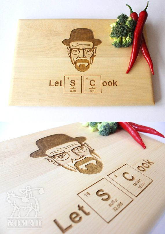 Hey, I found this really awesome Etsy listing at https://www.etsy.com/listing/227069681/heisenberg-cutting-board-lets-cook