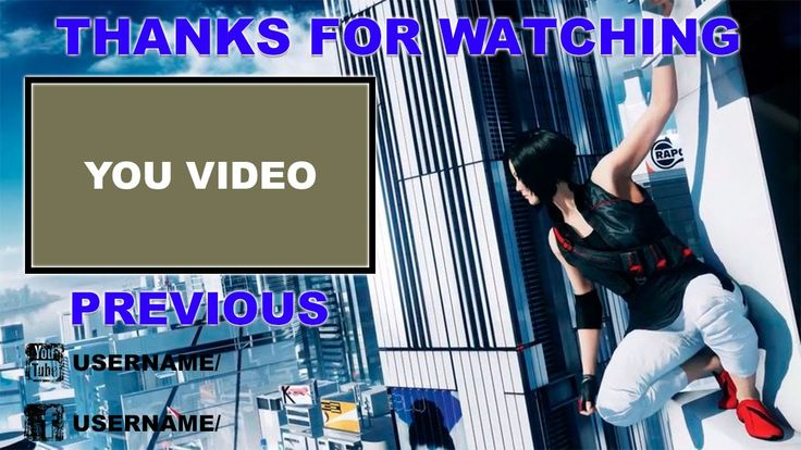Mirror's Edge Catalyst Outro Template FREE SONY VEGAS PRO 11, 12, 13