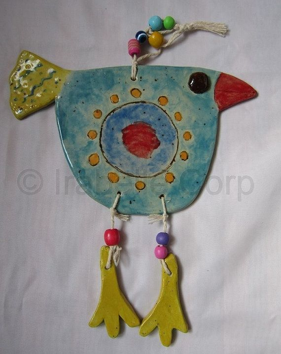 Whimsical Bluebird  with Legs Gift Home Decor by TulipeStudios