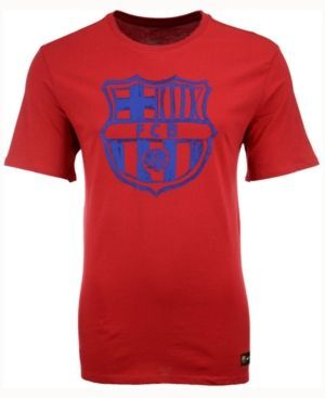 Nike Men's Fc Barcelona Club Team Core Crest T-Shirt - Red S