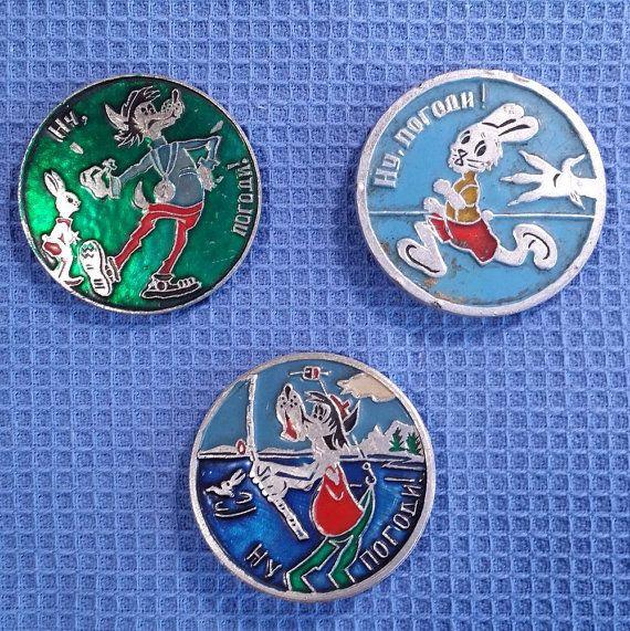 Soviet Animation Pins Cartoon Badges Badge от USSRVintageShopUSSR