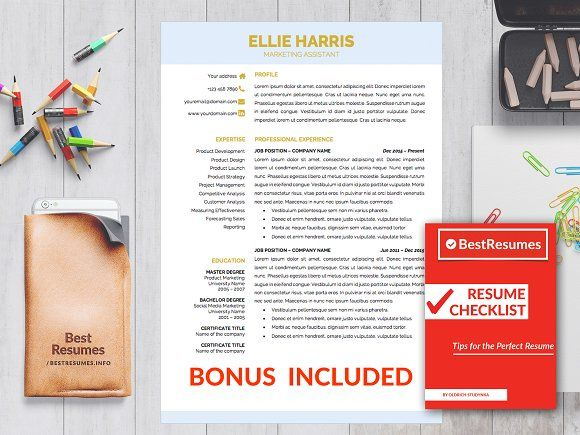 Professional Resume Template Word by BestResumes.info on @creativemarket