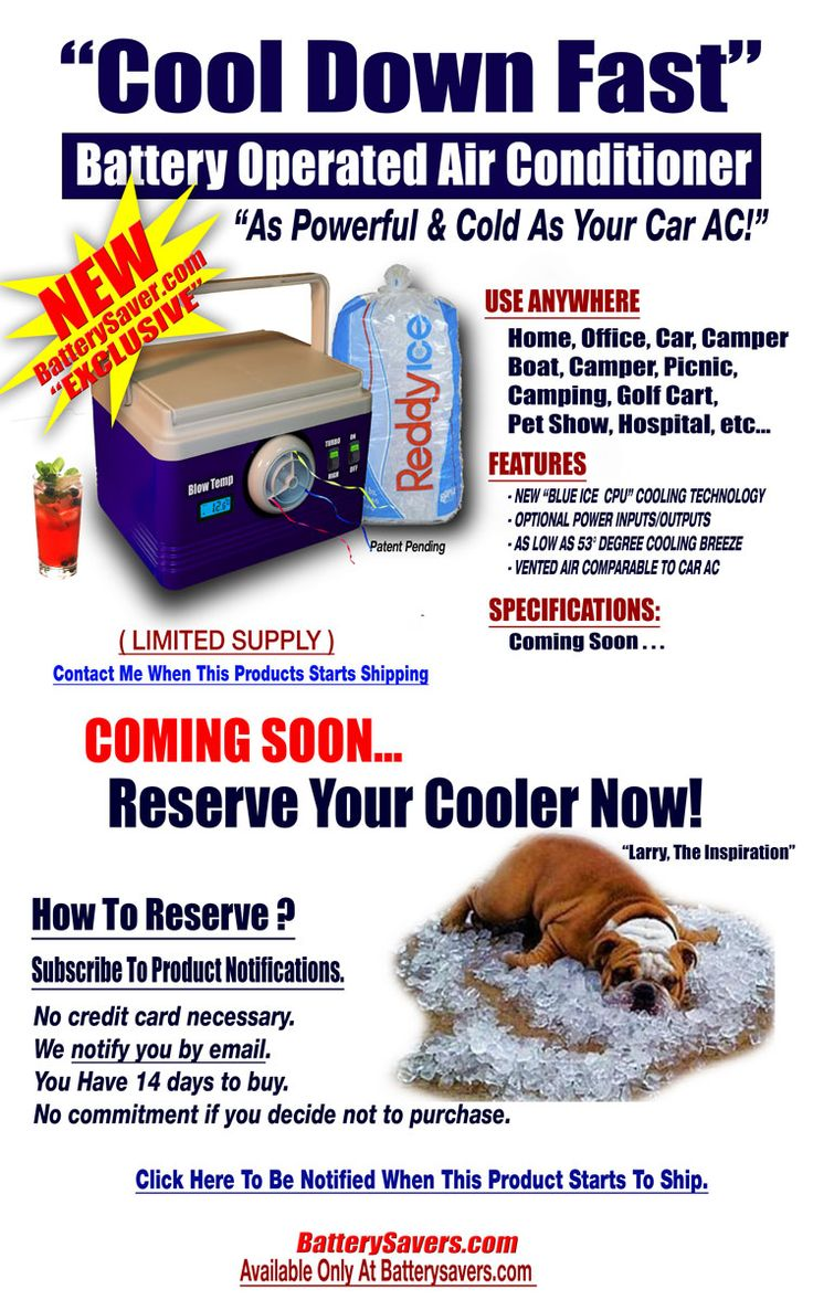 FrozenAire° Battery Operated Air Conditioner