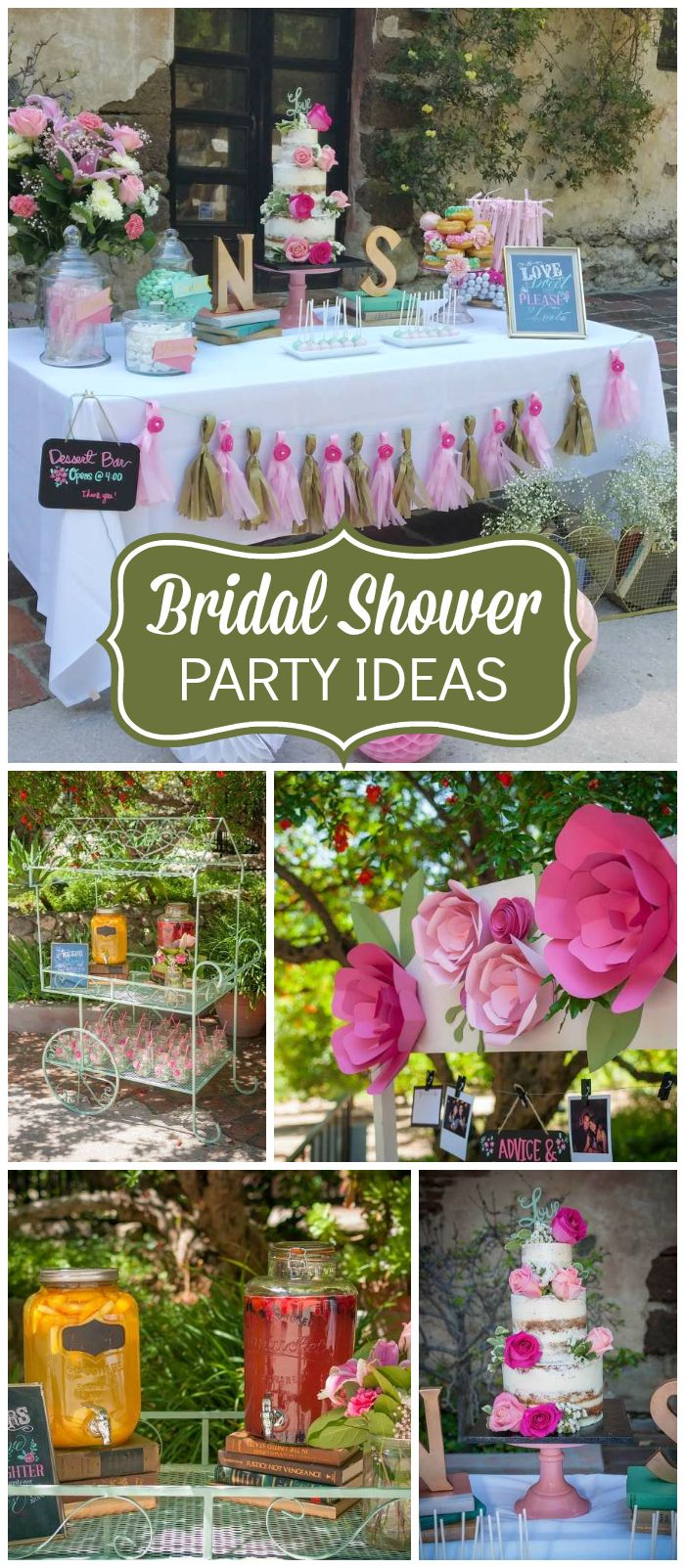 Once upon a time and happily ever after is this beautiful bridal shower's theme! See more party ideas at CatchMyParty.com!